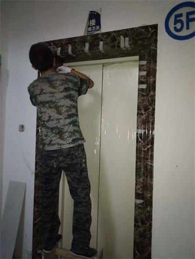 门套安装(线条固定)