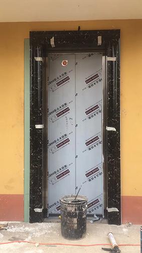 石塑电梯门套安装工程